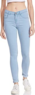 SLVETE Women's Denim Stretchable Mid Rise Jeans