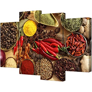 Chili Spice Canvas Wall Art Print for Cafe and Kitchen Decor