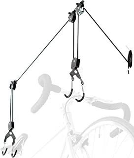 Delta Cycle El Greco Ceiling Hoist for Bikes, Kayaks, and Cargo Boxes - Garage Lift Storage System with Auto-Lock Mechanis...