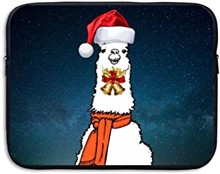 Llama Alpaca Christmas Soft Water-proof Neoprene Carrying Case Sleeve Bag For Laptop