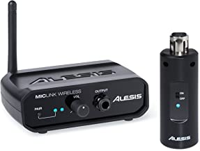Alesis MicLink Wireless | Digital Wireless Microphone Adapter with 60-foot Range (2.4GHz, 14 channels)