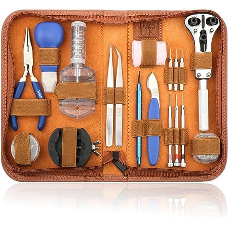 H&S 147pcs Orologi Strumenti / Guarda professionale kit Repair Tool,kit di riparazione Watch Repair Tool Kit