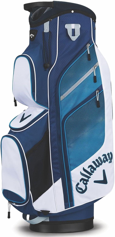 Callaway Chev Org Cart Bag, White blueee Navy, Medium