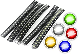 Chanzon (5 Colors x 20 pcs = 100 pcs) 1206 SMD LED Diode Lights Assorted Kit (Mini Chip 3.2mm x 1.6mm for PCB DC 20mA) Super Bright Lighting Bulb Lamps Electronics Components Light Emitting Diodes