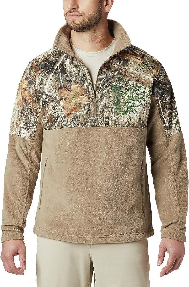 Columbia Mens PHG Fleece Overlay 1/4 Zip