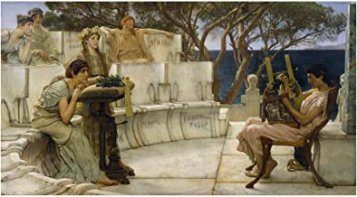 Spiffing Prints Sir Lawrence Alma Tadema - Sappho and Alcaeus - Extra Large - Archival Matte - Unframed