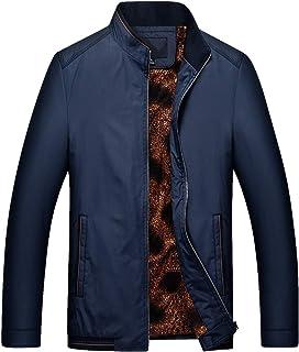 chouyatou Mens Casual Softshell Full Zip Lightweight Bomber Jacket