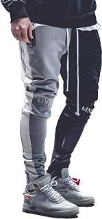 guapi ジョガーパンツ メンズ ジャージトラックパンツ バイカラー ブラック×グレー