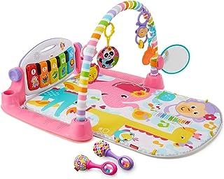 Fisher-Price 豪华健身架踢踏钢琴游戏毯(0-36个月)&沙锤(3个月+) 粉色