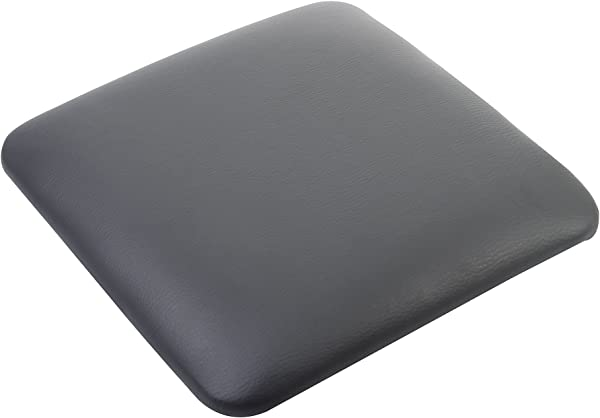 GIA 灰色方形坐垫 4 套人造皮革搭配 Tolix 风格金属凳子易组装超柔软可拆卸