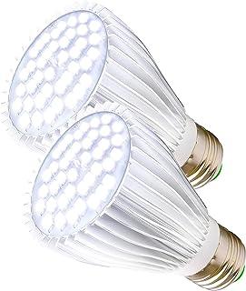 2 Pack 30W LED Grow Light Bulb White Full Spectrum Grow Lights for Indoor Plants, MILYN E26 Plant Light Bulb for DIY Indoo...