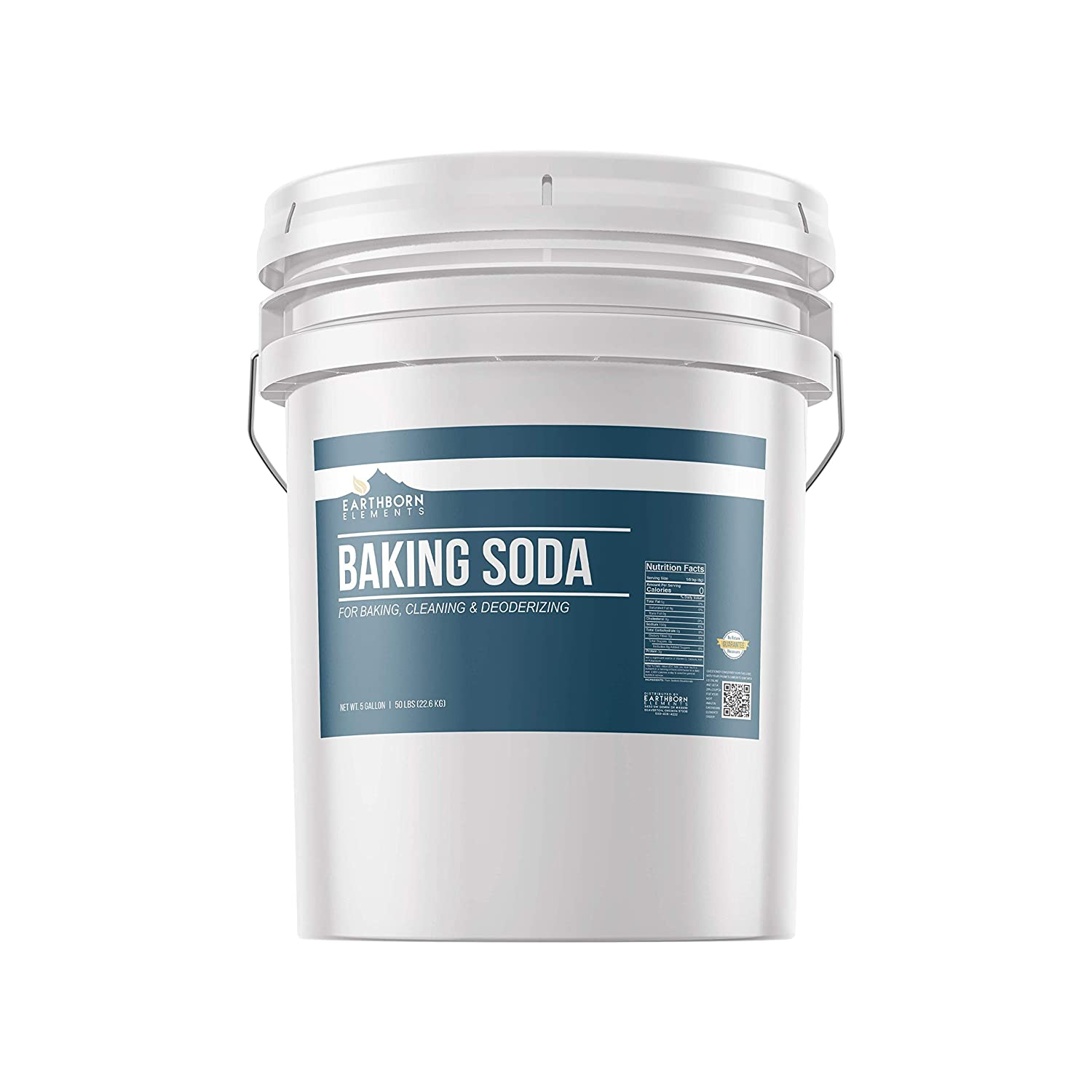 Baking Soda (5 gallon) Natural for Cooking, Baking, Cleaning, Deodorizing, & More by Earthborn Elements