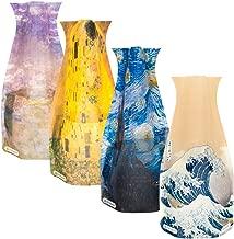 Van Gogh, Klimt, Hokusai, Monet Plastic Expandable Vase Set - NOT Glass