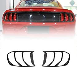 Voodonala for Mustang Smoked Black Tail Light Covers Trim for 2018 Mustang 2pcs