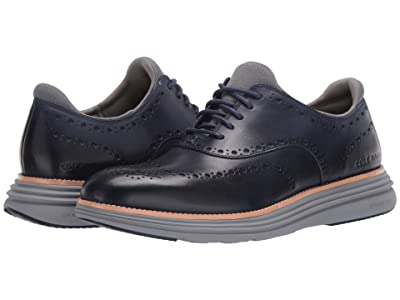 Cole Haan Original Grand Ultra Wing Ox (Marine Blue Leather/Sleet) Men