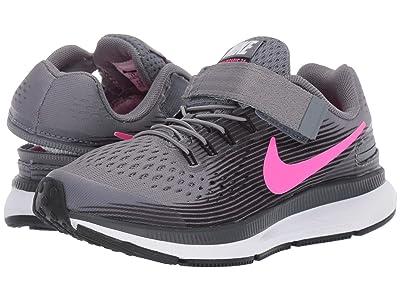 Nike Kids FlyEase Zoom Pegasus 34 (Little Kid/Big Kid) (Cool Grey/Hyper Pink/Anthracite) Boys Shoes
