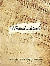 Quaderno di musica: Quaderno di musica pentagrammato   50 pagine   12 pentagrammi per pagina   Copertina flessibile (Itali...