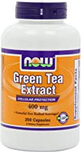 Now Foods Green Tea Extract 400 mg, 750 Gelatin Capsules Pack (mf16kd)