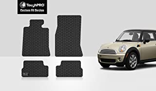 ToughPRO Floor Mats Set (Front Row + 2nd Row) Compatible with Mini Cooper Hardtop - All Weather - Heavy Duty - (Made in USA) - Black Rubber - 2007, 2008, 2009, 2010, 2011, 2012, 2013