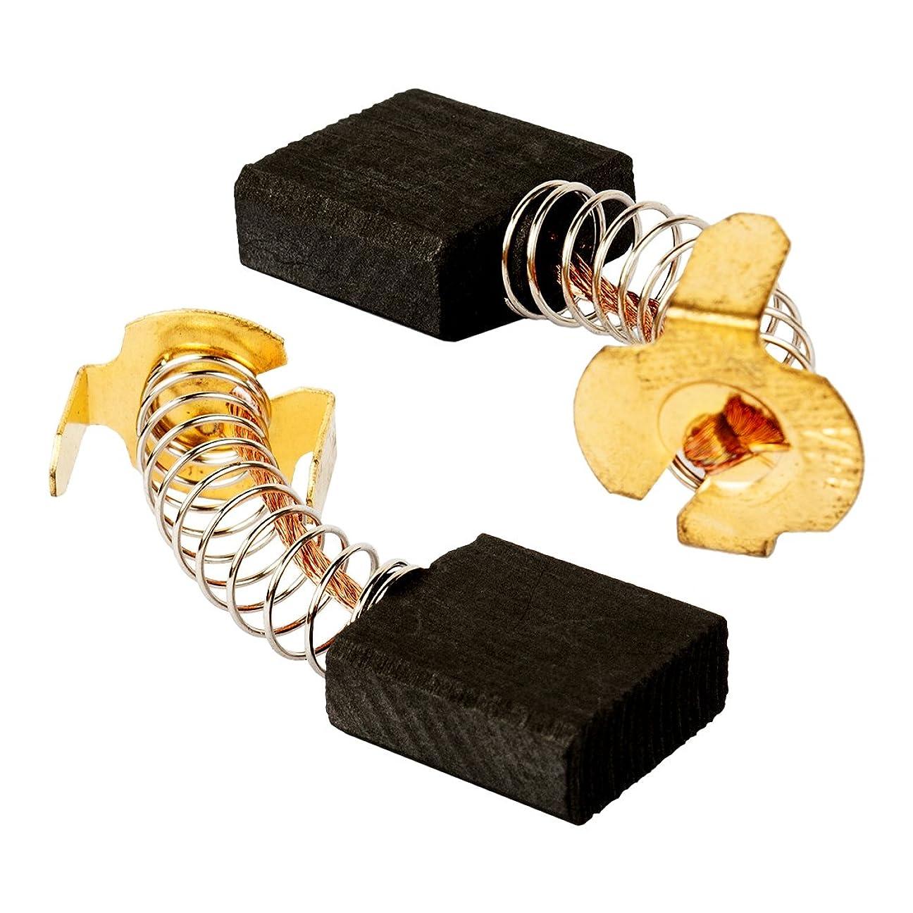 質素な流体ペンダントuxcell カーボンブラシ カーボン 金属材料 汎用電動機 修理部品 18mm x 17mm x 7mm 1ペア