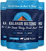 product image for Garlic Kalahari Biltong, Air-Dried Thinly Sliced Beef, 2oz (Pack of 3), Sugar Free, Gluten Free, Keto & Paleo, High Protein Snack