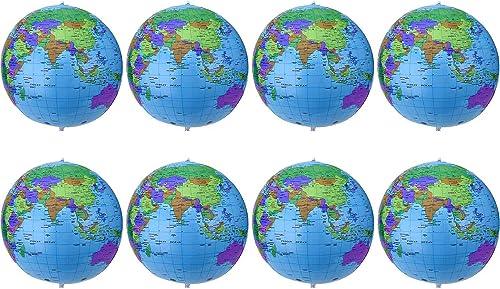 oferta de tienda 16 Pulgadas de Globo Inflable Globo de Tierra Inflable Bola Bola Bola de Playa para Juego en Playa Educativo, Colorido (8 Piezas)  perfecto