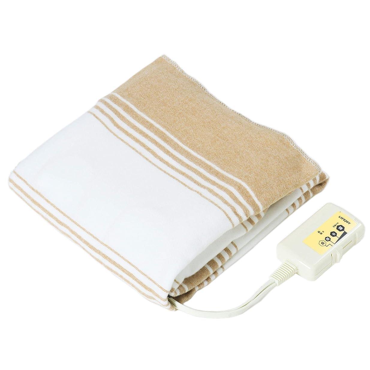 タイトル懐疑論落ち着いたLIFEJOY 洗える 電気毛布 敷きタイプ 130cm×80cm ブラウン BS402