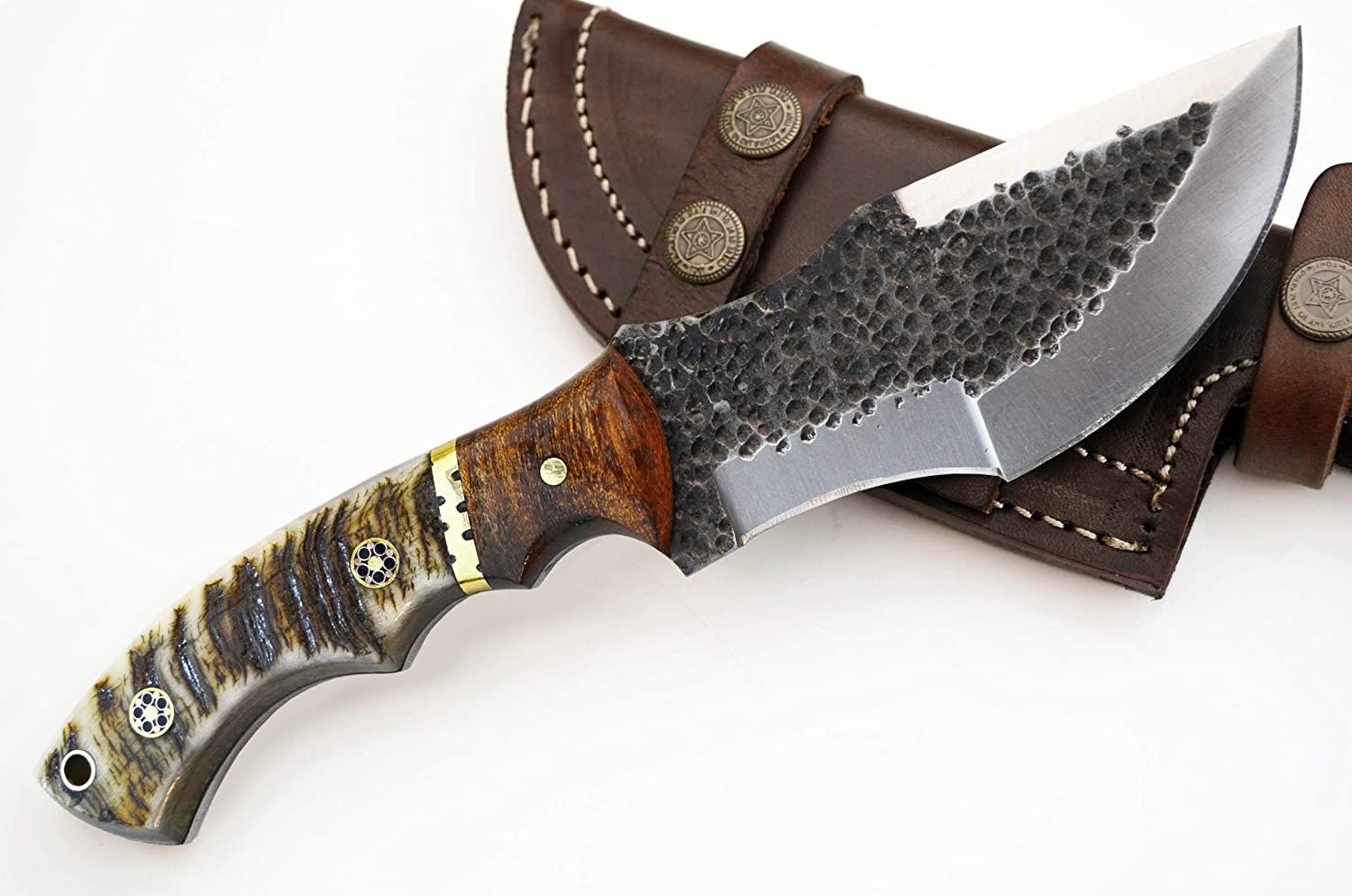 D2 Max 52% OFF Tracker Hunting Knife High material Large Hammered Survival Skinning Knives