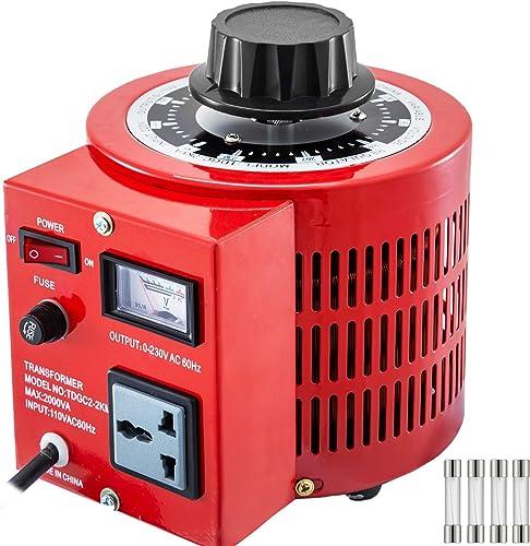 lowest Mophorn Variable Transformer 2000VA 110V 60Hz Varic 0-230 Volt Adjustable Output new arrival Variable AC Voltage Regulator with Universal outlet sale Plug Hole outlet sale