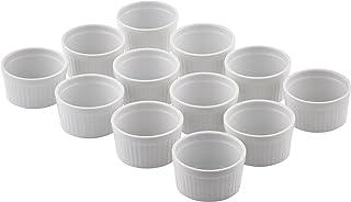 Levivo Molde para paté / moldes de repostería de porcelana, juego de 12 unidades