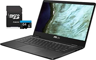 """2021 Newest ASUS Chromebook Laptop, 14"""" HD Non-Touch Display, Intel Celeron N3350 Processor, 4GB..."""