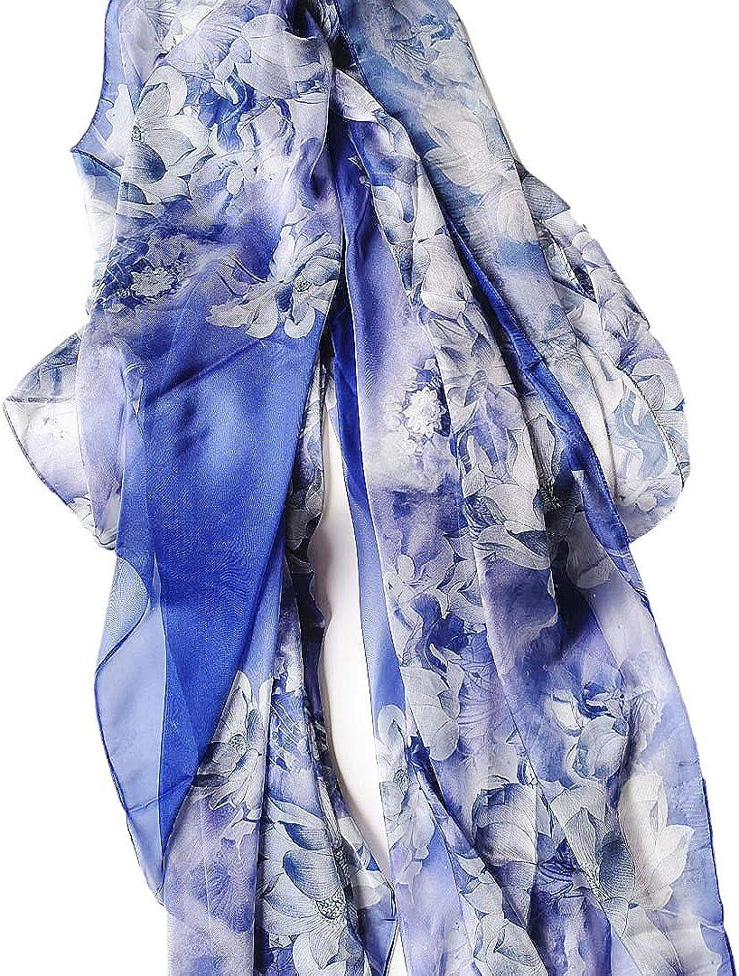 Womans Sheer Scarf Lightweight Printed Fashion Scarf Shawl Beach Wraps for Women