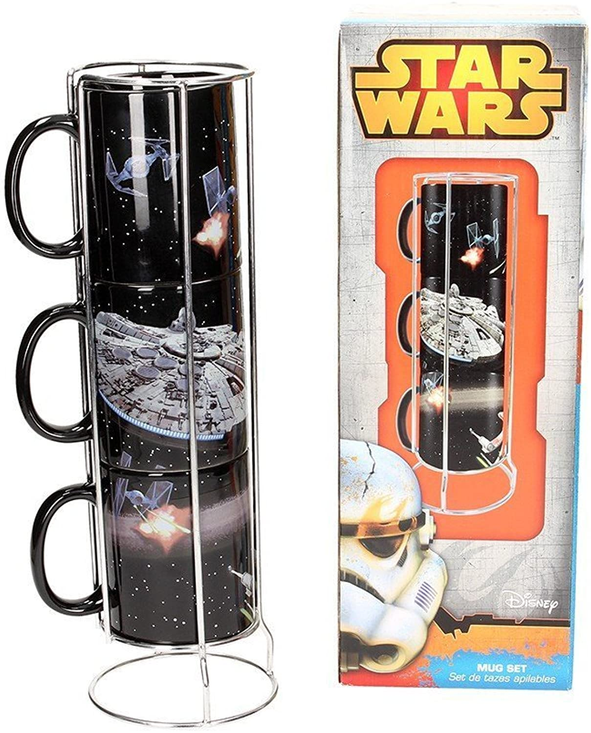 SD Toys  Mugs Star Wars Empilables  Death Star and Millenium Falcon Battle  8436546896401