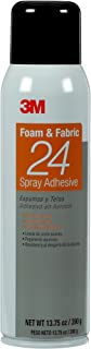 3M Foam & Fabric 24 Spray Adhesive Orange, 20 fl Ounce can, Net Weight 13.75 Ounce (Pack of 1)