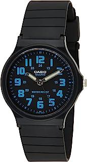 ساعة للرجال من كاسيو بمينا أسود وسوار من الراتنيج - MQ-71-2BDF