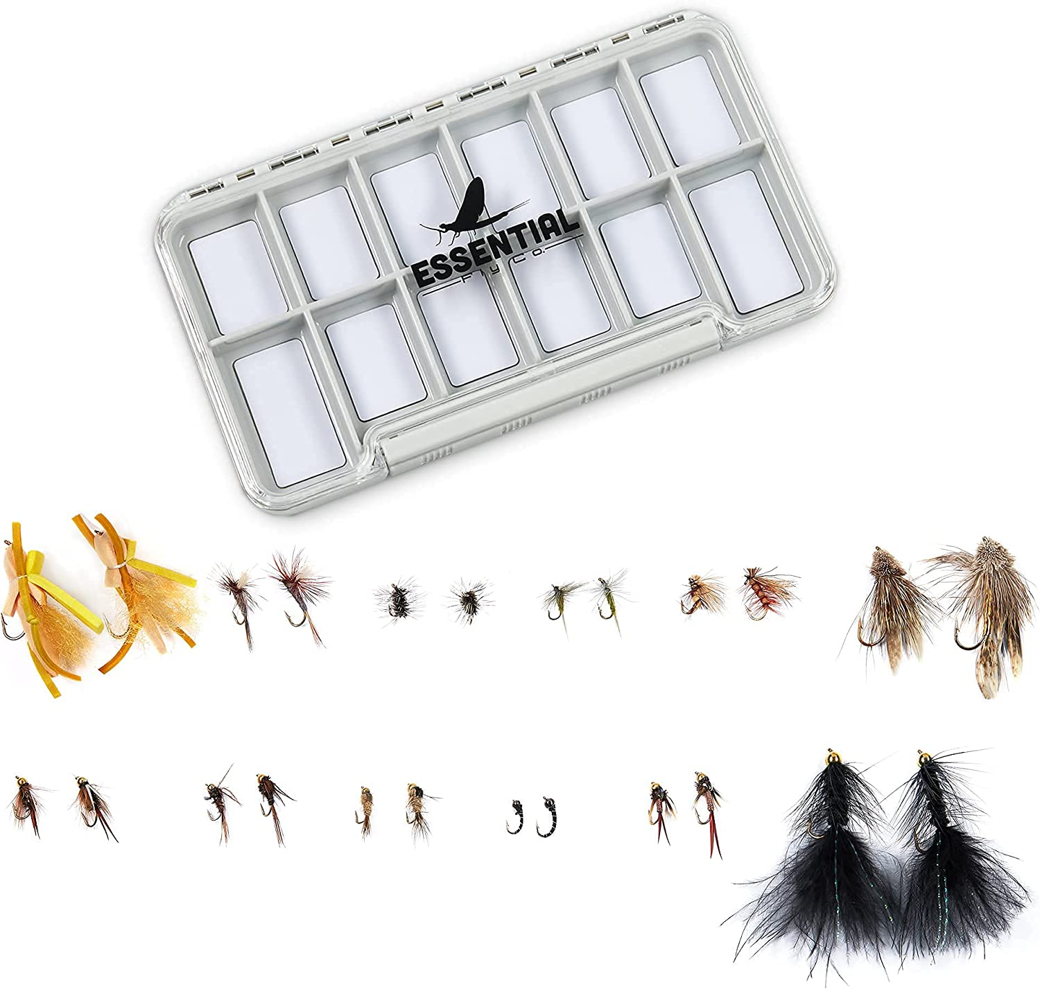Fly Fishing Flies 5 popular Dry Nymph Wooly Bugger F Sales Streamers