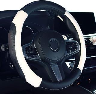 Istn 2018 nowy pokrowiec na kierownicę samochodu komfort trwałość etui bezpieczeństwa (białe)
