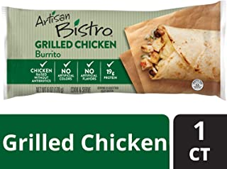 Artisan Bistro Grilled Chicken Burrito – Chef-Crafted Frozen Burrito Filled with Grilled Chicken, Monterey Jack Cheese, Whole Black Beans and Cilantro Lime Rice, Perfect for a Delicious Meal On-the-Go