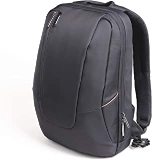 """Kingsons 3019 Expansion Capacity Large Content Computer Laptop Messenger Backpack Book Bag Nylon Fabric Multifunctional Bag Fits Laptop Up To 15.6"""" inch Backpack (Black)"""