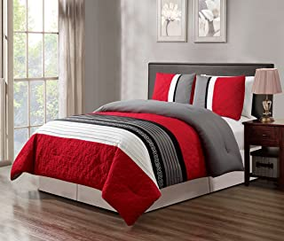 Best red and white comforter sets king Reviews