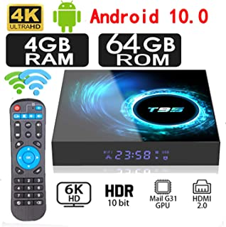 2020 New Upgrade Android 10.0 TV Box 4GB RAM 64GB ROM Allwinner H616 Quad-core 64bit WiFi 5G/2.4GHz, HDMI 2.0 Support 4K 3D/H.265 Android Box