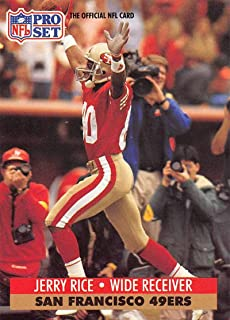 1991 Pro Set Football Card #654 Jerry Rice San Francisco 49ers Official NFL Trading Card