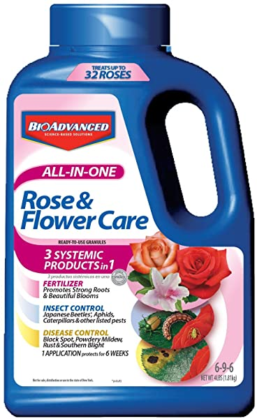 Bayer Advanced 701110A All In One Rose And Flower Care Granules 4 Pound