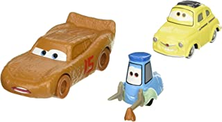 Disney Pixar Cars 3: Lightning McQueen as Chester Whipplefilter, Luigi & Guido with Cloth Die-cast Vehicle 2-Pack