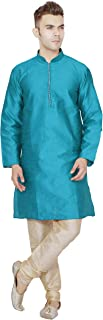SKAVIJ Men's Tunic Kurta Pajama Set Party Wear Dress