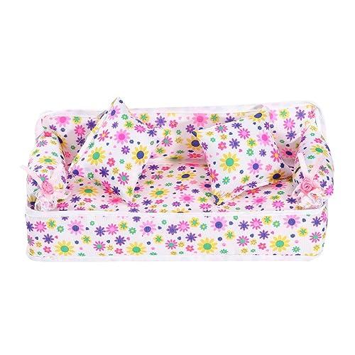 Miniature Dollhouse Cloth Shopping Bag Pink w// White Dots