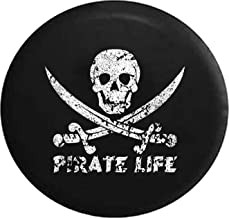 Spare Tire Cover Pirate Life Skull & Swords Saltwater Edition (Fits: Jeep Wrangler Accessories, Camper, RV Accessories) Size 35 Inch