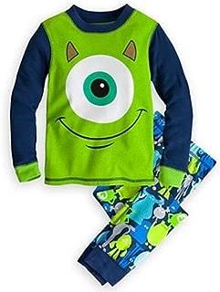 Disney Store Monsters University Costume Boy 2PC Long Sleeve Pajama Set Size 6