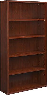 "Sauder Affirm 5-Shelf Bookcase, L: 34.80"" x W: 11.34"" x H: 65.98"", Classic Cherry Finish"