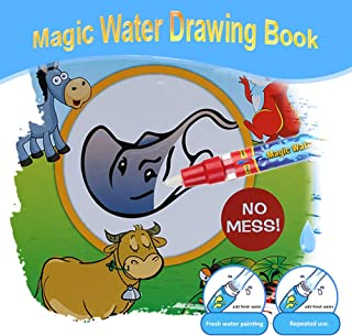 Magic Water Drawing Book Coloring Book Doodle with Magic Pen Animals Painting No Ink Educational Toy